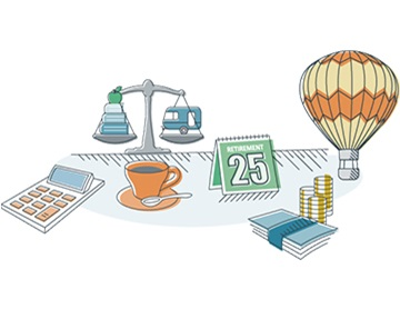Hot air balloon illustration